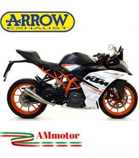 Terminale Di Scarico Arrow Ktm RC 125 17 - 2020 Slip-On Pro-Race Nichrom Moto