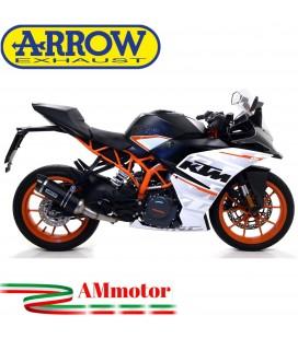 Terminale Di Scarico Arrow Ktm RC 125 17 - 2020 Slip-On Thunder Alluminio Dark Moto Fondello Carbonio