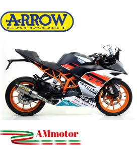 Terminale Di Scarico Arrow Ktm RC 390 15 - 2016 Slip-On Thunder Titanio Moto Fondello Carbonio