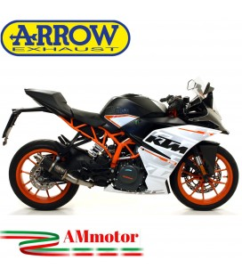 Terminale Di Scarico Arrow Ktm RC 390 17 - 2020 Slip-On GP2 Dark Moto