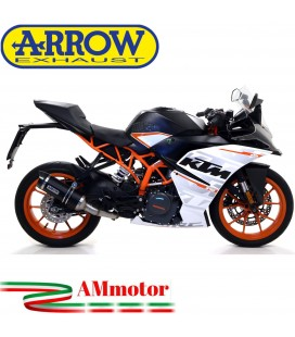 Terminale Di Scarico Arrow Ktm RC 390 17 - 2020 Slip-On Thunder Alluminio Dark Moto Fondello Carbonio