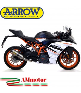 Terminale Di Scarico Arrow Ktm RC 390 17 - 2020 Slip-On Thunder Titanio Moto Fondello Carbonio