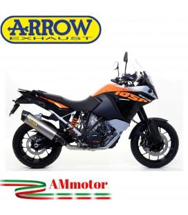 Terminale Di Scarico Arrow Ktm 1050 Adventure 15 - 2016 Slip-On Maxi Race-Tech Titanio Moto