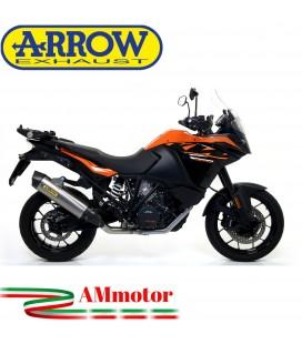 Terminale Di Scarico Arrow Ktm 1090 Adventure 17 - 2019 Slip-On Maxi Race-Tech Titanio Moto