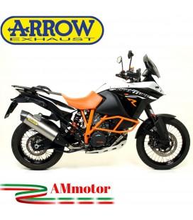 Terminale Di Scarico Arrow Ktm 1190 Adventure 13 - 2016 Slip-On Maxi Race-Tech Titanio Moto