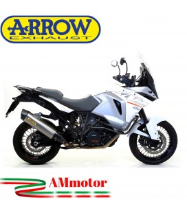 Terminale Di Scarico Arrow Ktm 1290 Super Adventure 15 - 2016 Slip-On Maxi Race-Tech Titanio Moto