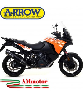 Terminale Di Scarico Arrow Ktm 1290 Super Adventure 17 - 2020 Slip-On Maxi Race-Tech Alluminio Dark Moto