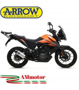Terminale Di Scarico Arrow Ktm 390 Adventure 2020 Slip-On Indy-Race Titanio Moto