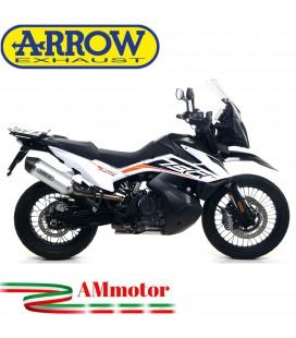 Terminale Di Scarico Arrow Ktm 790 Adventure 19 - 2020 Slip-On Race-Tech Alluminio Moto Fondello Carbonio
