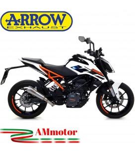 Terminale Di Scarico Arrow Ktm Duke 125 17 - 2020 Slip-On Pro-Race Nichrom Moto