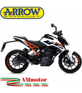 Terminale Di Scarico Arrow Ktm Duke 125 17 - 2020 Slip-On Pro-Race Nichrom Dark Moto