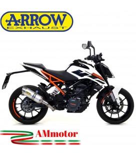 Terminale Di Scarico Arrow Ktm Duke 125 17 - 2020 Slip-On Thunder Alluminio Moto