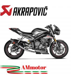 Akrapovic Triumph Street Triple 765 S / R / RS 17 - 2019 Terminale Di Scarico Slip-On Line Carbonio Moto Racing