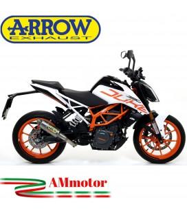 Terminale Di Scarico Arrow Ktm Duke 390 17 - 2020 Slip-On GP2 Titanio Moto