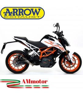 Terminale Di Scarico Arrow Ktm Duke 390 17 - 2020 Slip-On GP2 Dark Moto