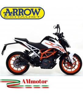 Terminale Di Scarico Arrow Ktm Duke 390 17 - 2020 Slip-On Pro-Race Nichrom Dark Moto