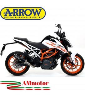 Terminale Di Scarico Arrow Ktm Duke 390 17 - 2020 Slip-On Thunder Alluminio Dark Moto Fondello Carbonio