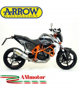 Terminale Di Scarico Arrow Ktm Duke 690 12 - 2015 Slip-On Race-Tech Alluminio Moto
