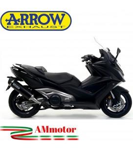 Terminale Di Scarico Arrow Kymco AK 550 17 - 2020 Slip-On Urban Alluminio Dark Moto Scooter