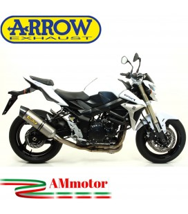 Terminale Di Scarico Arrow Suzuki Gsr 750 11 - 2016 Slip-On Race-Tech Titanio Moto Fondello Carbonio
