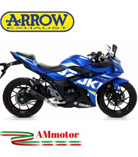 Terminale Di Scarico Arrow Suzuki Gsx 250 R 17 - 2020 Slip-On Pro-Race Nichrom Dark Moto