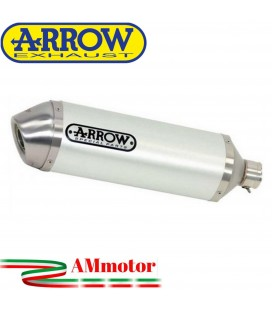 Terminale Di Scarico Arrow Suzuki Gsx 650 F 07 - 2015 Slip-On Race-Tech Alluminio White Moto