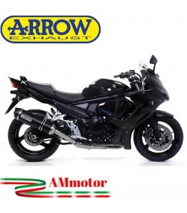 Terminale Di Scarico Arrow Suzuki Gsx 1250 F 10 - 2016 Slip-On Race-Tech Alluminio Dark Moto Fondello Carbonio