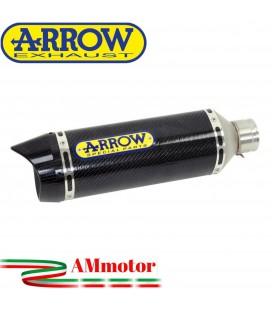 Terminale Di Scarico Arrow Suzuki Gsx-R 125 17 - 2020 Slip-On Street Thunder Carbonio Moto