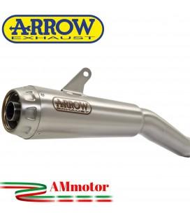 Terminale Di Scarico Arrow Suzuki Gsx-R 125 17 - 2020 Slip-On Pro-Race Nichrom Moto