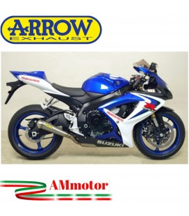 Terminale Di Scarico Arrow Suzuki Gsx-R 600 06 - 2007 Slip-On Pro-Racing Titanio Moto
