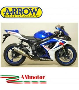 Terminale Di Scarico Arrow Suzuki Gsx-R 750 06 - 2007 Slip-On Thunder Alluminio Moto