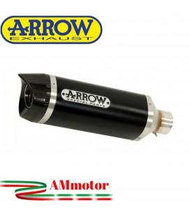 Terminale Di Scarico Arrow Suzuki Gsx-R 750 08 - 2010 Slip-On Thunder Alluminio Dark Moto Fondello Carbonio