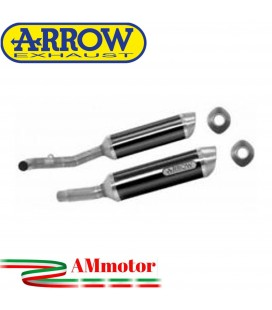 Terminali Di Scarico Arrow Suzuki Gsx-R 1000 07 - 2008 2 Slip-On Thunder Carbonio Moto