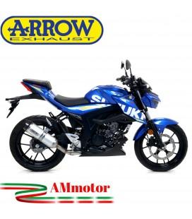 Terminale Di Scarico Arrow Suzuki Gsx-S 125 17 - 2020 Slip-On Street Thunder Alluminio Moto