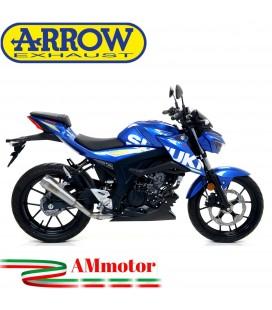 Terminale Di Scarico Arrow Suzuki Gsx-S 125 17 - 2020 Slip-On Pro-Race Nichrom Moto