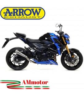 Terminale Di Scarico Arrow Suzuki Gsx-S 750 17 - 2020 Slip-On Pro-Race Nichrom Moto
