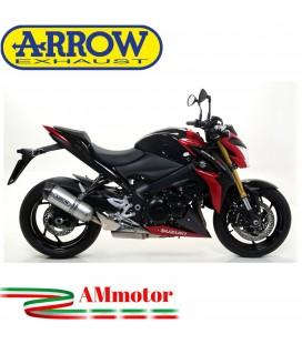 Terminale Di Scarico Arrow Suzuki Gsx-S 1000 / 1000 F 15 - 2016 Slip-On Race-Tech Alluminio Moto Fondello Carbonio