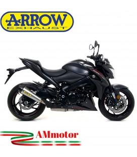 Terminale Di Scarico Arrow Suzuki Gsx-S 1000 / 1000 F 17 - 2020 Slip-On X-Kone Moto