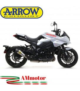 Terminale Di Scarico Arrow Suzuki Katana 1000 19 - 2020 Slip-On X-Kone Short Titanio Moto