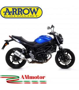 Terminale Di Scarico Arrow Suzuki SV 650 16 - 2020 Slip-On Race-Tech Alluminio Moto Fondello Carbonio