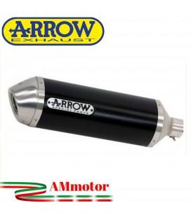 Terminale Di Scarico Arrow Suzuki Gladius 650 09 - 2015 Slip-On Street Thunder Alluminio Dark Moto