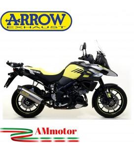 Terminale Di Scarico Arrow Suzuki V-Strom 1000 17 - 2020 Slip-On Maxi Race-Tech Titanio Moto Fondello Carbonio
