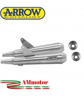 Terminali Di Scarico Arrow Triumph Bonneville T100 17 - 2020 2 Slip-On Pro-Racing Nichrom Moto