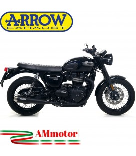 Terminali Di Scarico Arrow Triumph Bonneville T100 17 - 2020 2 Slip-On Pro-Racing Nichrom Dark Moto