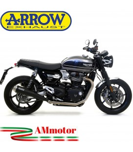 Terminali Di Scarico Arrow Triumph Speed Twin 1200 19 - 2020 2 Slip-On Pro-Racing Nichrom Dark Moto
