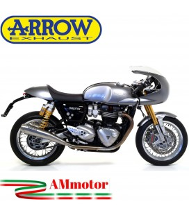 Terminali Di Scarico Arrow Triumph Thruxton 1200 / 1200 R 16 - 2020 2 Slip-On Pro-Racing Nichrom Moto