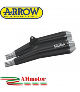 Terminali Di Scarico Arrow Triumph Thruxton 1200 / 1200 R 16 - 2020 2 Slip-On Pro-Racing Nichrom Dark Moto