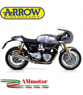 Terminali Di Scarico Arrow Triumph Thruxton 1200 / 1200 R 16 - 2020 2 Slip-On Pro-Racing Nichrom Moto Fondello Carbonio