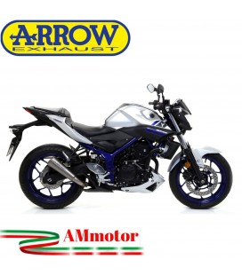 Terminale Di Scarico Arrow Yamaha MT-03 16 - 2017 Slip-On Pro-Race Nichrom Moto