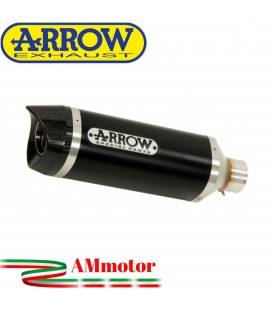 Terminale Di Scarico Arrow Yamaha MT-03 18 - 2019 Slip-On Street Thunder Alluminio Dark Moto Fondello Carbonio